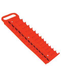 """3/8"""" Drive Red Magnetic Socket Holder for 28 Sockets"""