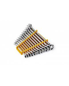 12 Pc. 90T 12PT Metric Combi Ratchet Wrench Set