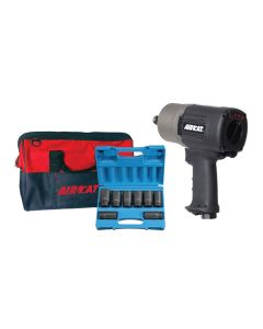 AIRCAT 3/4 in. Compact Super Duty Impact Wrench Kit