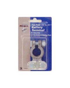 Heavy Duty Universal Top Post Battery Terminals, for 6 to 1 Gauge Cables, Lead Free, Pack of 10