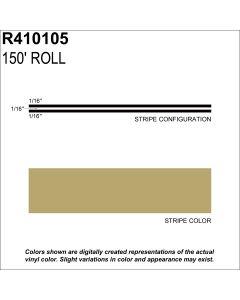 "MS, 3/16"" X 150'; Lt Gold Metallic"