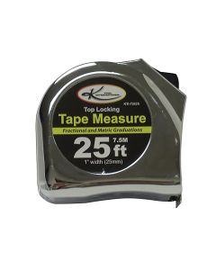 "1"" x 25' Top Lock Tape Measure with SAE and Metric Markings"