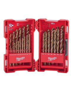 29-Piece Cobalt Red Helix Drill Bit Set