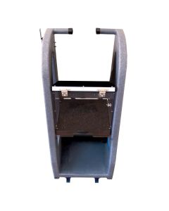 Deluxe Equipment Stand with Front Casters and Bottom Compartment