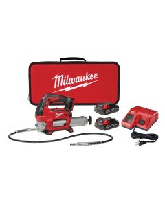 M18 Cordless 2-Speed Grease Gun w/ (2) Batteries Kit