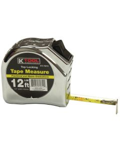 "1/2"" x 12' Top Lock Tape Measure with SAE and Metric Markings"