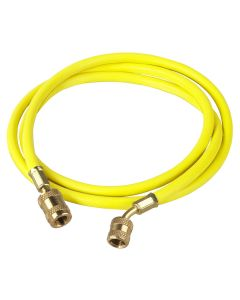 "72"" Yellow Enviro-Guard Hose with 45 Degree Quick Seal Fitting"