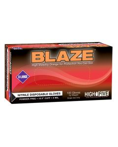 BLAZE Powder-Free Nitrile Exam Gloves, XLarge