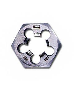 """High Carbon Steel Hexagon Taper Pipe 1"""" Across Flat Die 1/8""""-27 NPT"""