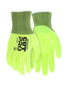 MCR Safety Cut Pro 13 Gauge HyperMax, Shell Nitrile Foam Coated Palm and Fingertips