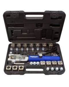 Universal hydra flaring tool set with tube cutter