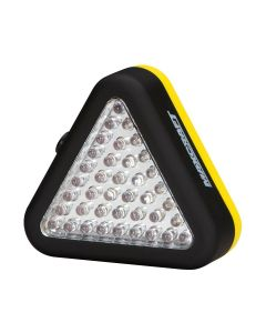Triangle Work Light, with 15 White and 24 Red LEDs, 3 Mode Operation, Magnet and Hang Hook