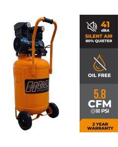 Hulk 2hp 20 Gal. Silent Air Portable Compressor