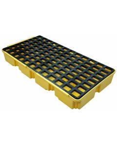 Homak Mfg. 2-Drum/30-Gallon Sump Capacity Modular Spill Containment Platform
