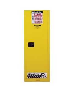 22 Gallon Yellow Slimline Flammable Safety Cabinet