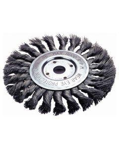 """Standard Twist Wire Wheel Brush, 4"""" Diameter"""