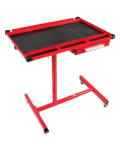 Sunex Heavy Duty Adjustable Red Work Table with Drawer