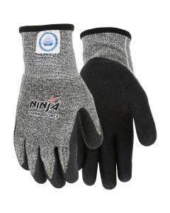 Ninja Therma Force Bi-Polymer Coated Palm and Fingertips Dyneema Diamond Technology Acrylic Terry Liner for Warmth