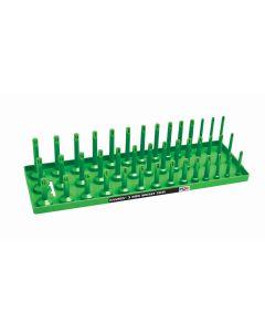 """1/2"""" SAE 3-Row Socket Tray, Green"""