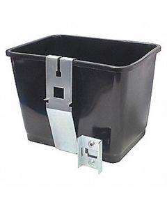 Squeegee Bucket with Bracket, 2 gal., Black Plastic