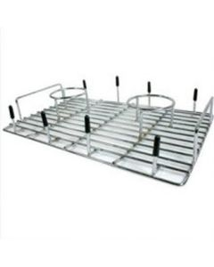 """Beer Can Chicken Double Cooker, for Grills, with Skewers for Corn or Baked Potatoes, 13-1/2"""" x 9"""""""