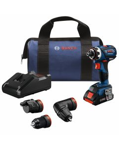 18V Brushless FlexiClick 5-in-1 Drill Driver Kit w/ (1) 4.0 Ah CORE Compact Battery