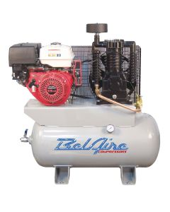Two Stage Gas Powered Air Compressor,  13 HP 30 Gallon Honda