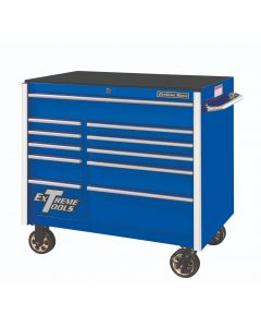 """Extreme Tools 41"""" 11-Drawer Roller Cabinet, Blue"""