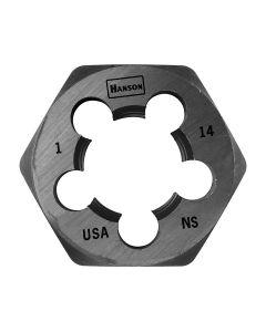 "High Carbon Steel Hexagon 1-13/16"" Across Flat Die 1""-14 NS"