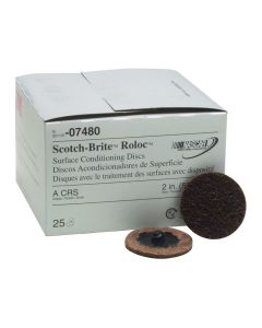 "2"" Coarse Scotch Brite Roloc Surface Conditioning Discs"