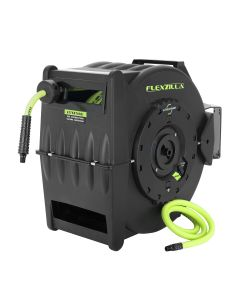 "Flexzilla Retractable Air Hose Reel with Levelwind Technology, 3/8"" x 50'"