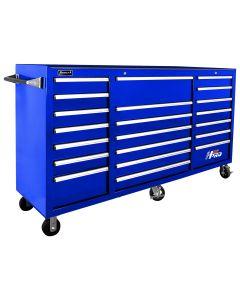 Homak Mfg. 72 in. H2Pro Series 21 Drawer Rolling Cabinet, Blue