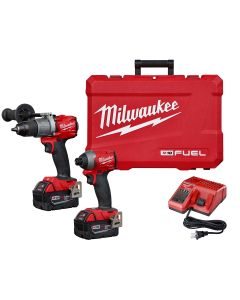 M18 FUEL 2-Tool Combo Kit: Hammer Drill / Impact Driver w/ (2) XC5.0 Batteries Kit