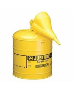 Yellow Metal Safety Can, Type 1, Five Gallon, with Yellow Plastic Funnel, for Diesel Fuel