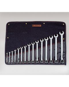 """Combination Wrench WRIGHTGRIP 2.0 15 Piece Set - 12-Point Full Polish 5/16"""" - 1-1/4"""""""