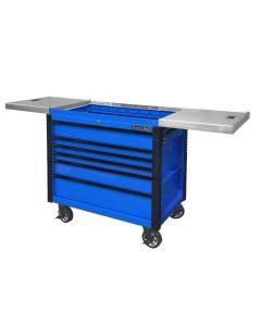 "41"" 6 Drawer Slide Top Tool Cart, Blue"