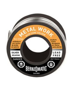 BernzOMatic Acid Core Solder, Silver Bearing, Lead Free, 8 oz, for Metal Work