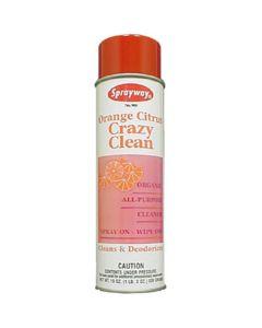 Sprayway Organic Orange Citrus Crazy Clean, All-Purpose Cleaner, 20 oz. (6/Case)