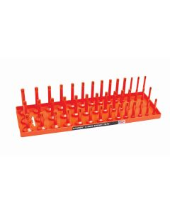 "1/2"" SAE 3-Row Socket Tray, Orange"