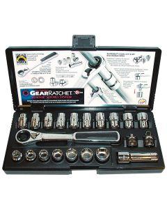 21-Piece GearRatchet Combination SAE and Metric Socket Set