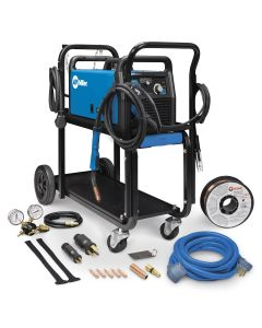 Millermatic 211 MIG Welder with Cart & Cover