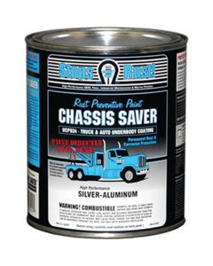 Chassis Saver Paint, Stops and Prevents Rust, Sliver-Aluminum, 1 Quart Can