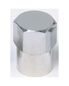 Chromed Long Skirted Plastic Sealing Cap (Box of 1