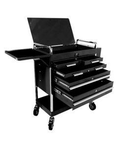Sunex Tools HD 5-Drawer Service Cart, Black