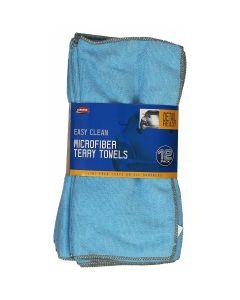 "12pk Microfiber Towels 14""x14"""