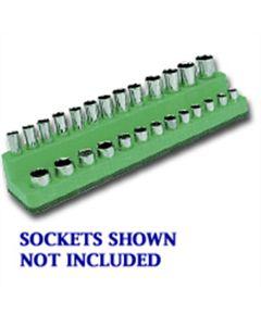 1/4 in. Drive Magnetic Dark Green Socket Holder 4-14mm