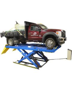 ATLAS 16,000 LB. SCISSOR ALIGNMENT LIFT W/ SLIP PLATES AND FRONT SUPPORT BEAM