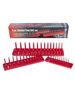 Hansen Global 3-Piece SAE Fractional Socket Tray Set