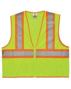8229Z 2XL/3XL Lime Type R Class 2 Economy Two-Tone Vest