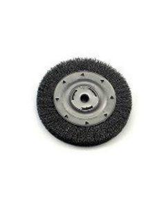 "Bench Grinder Wire Wheel, 8"" Diameter, Coarse Crimped Wire, Wide Face, 5/8"" Arbor"